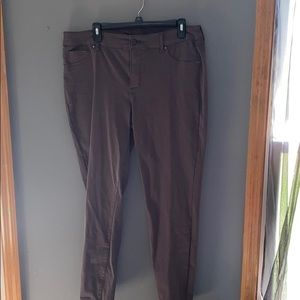 Charcoal Stretchy Tight Fit Pants